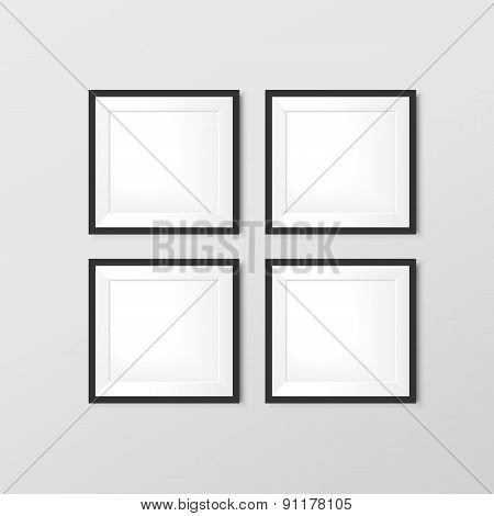Elegant Blank Photo Frames Set