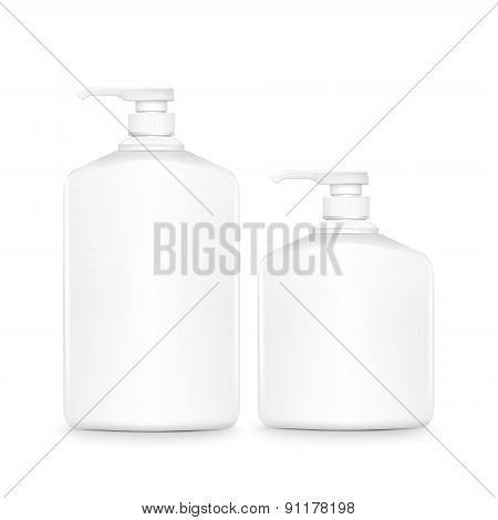 Blank Shampoo Bottles Set