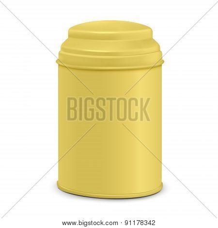 Yellow Round Tin Packaging