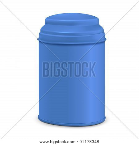 Blue Round Tin Packaging