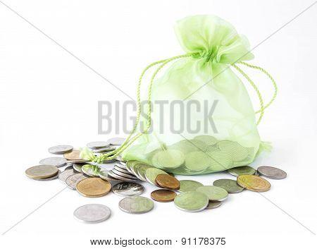 Green Money Bag