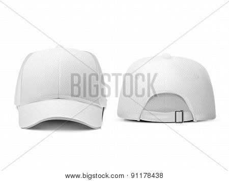 Blank Hat In White
