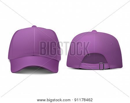 Blank Hat In Purple
