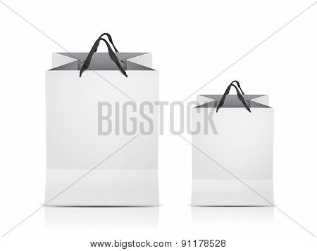 White Shopping Bags Set