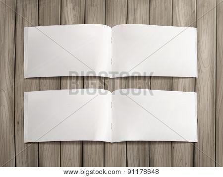 Blank Open Book Template