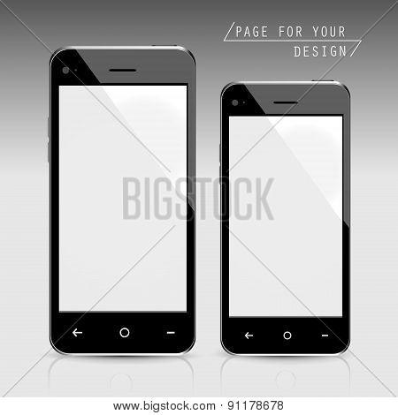 Blank Smartphones Set