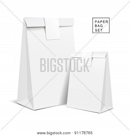 White Paper Bags With Sticker