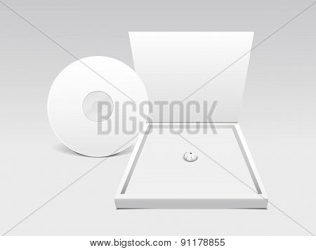 Blank White Compact Disk With Box