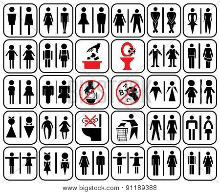 Toilet Sign-02-black