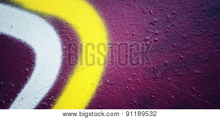 Text Frame. Grunge Background. Street Graffiti Closeup. Aged Photo.