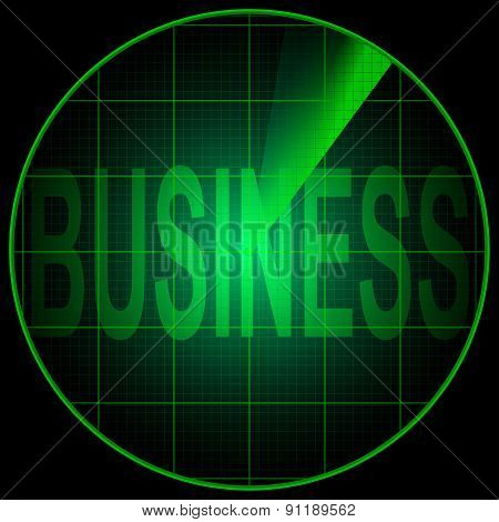 Radar Screen With The Word Business
