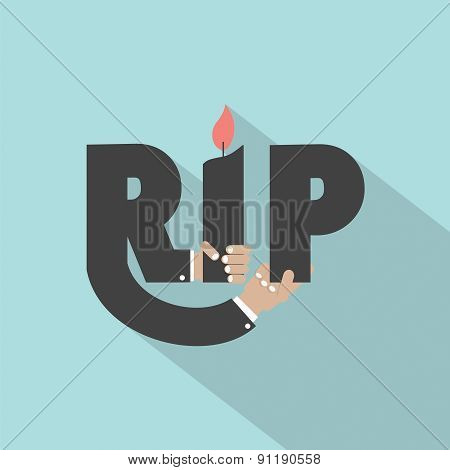 Rest In Peace Typography Design.