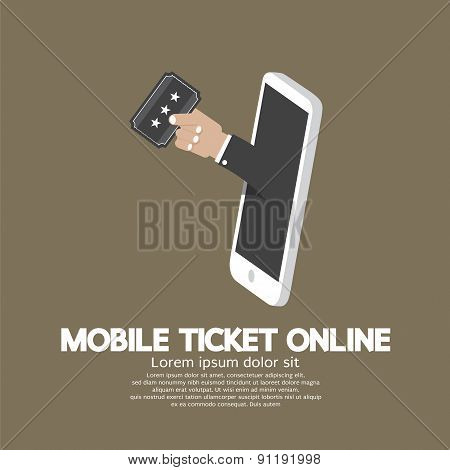 Mobile Ticket Online Concept.