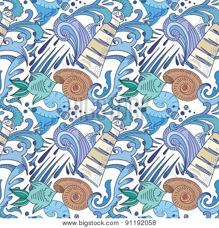 Nautical Blue Pattern