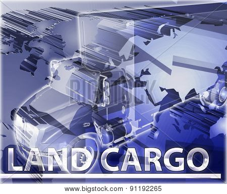 Abstract background digital collage concept illustration land cargo transport