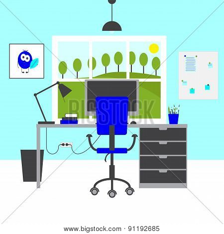 Blue Workplace