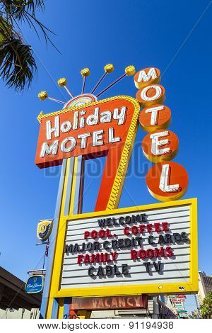 Historic Holiday Motel Sign