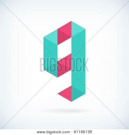 Modern Letter G Icon Flat Design Element Template