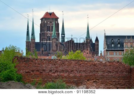 Basilica of St. Mary's in Gdansk.