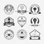 Постер, плакат: Golf Club Logo