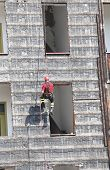 picture of firehouse  - climber of firefighters during exercise at fire station - JPG