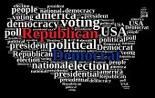 image of election campaign  - Word cloud on elections Republican and Democrat - JPG
