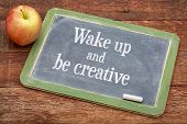 image of red barn  - Wake up and be creative   - JPG