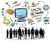 picture of socialism  - Social Network Social Media Business People Aspiration Concept - JPG