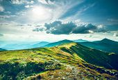 image of mountain-range  - Chorna hora mountain range - JPG