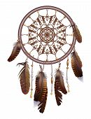 picture of dream-catcher  - Vector illustration of dream catcher with feathers - JPG