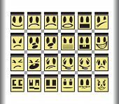 foto of angry smiley  - Square smileys laugh angry - JPG