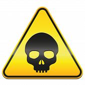 image of hazardous  - Hazard warning sign  - JPG