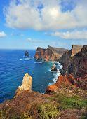 stock photo of atlantic ocean  - Easternmost tip of the island of Madeira - JPG