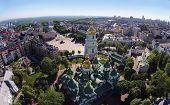 pic of kiev  - aerial view of Saint Sophia Cathedral in Kiev - JPG