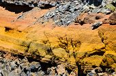 foto of volcanic  - Seamless Colored Dry Hardened Volcanic Lava Texture - JPG