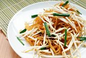 image of thai food  - Thai Food Named Korat Noodle or Mii Korat look like pad - JPG