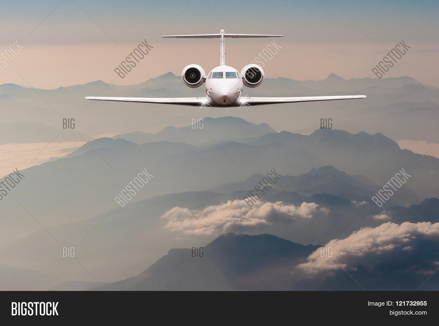 plane clouds and mountains - photo #46