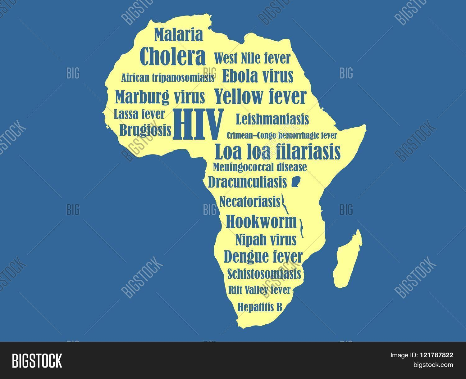Continent map of diseases map of the world map of india map of african continent diseases name image photo bigstock on map of the world gumiabroncs Gallery