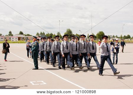 Perm, Russia, July 04.2015:cadets Of College Of Federal Service Of Execution And Punishment