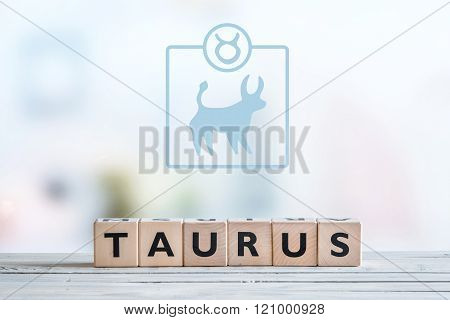 Taurus Star Sign On A Table