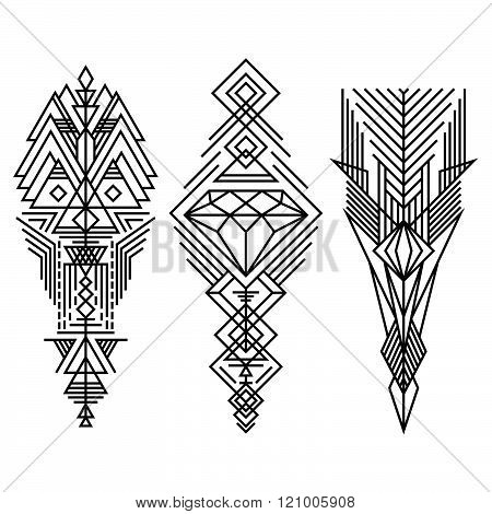 Geometric Linear Trendy Hipster Elements