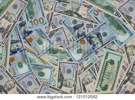 Dollar Money Banknotes Texture Background