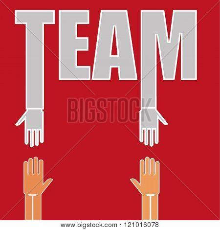 Teamwork Hands Concept