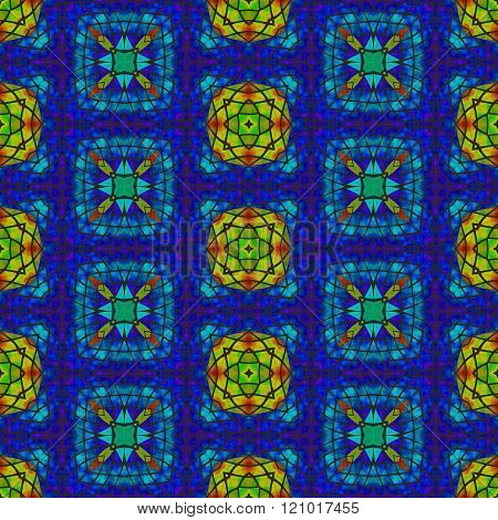 Kaleidoscopic decorative floral fractal secession tile