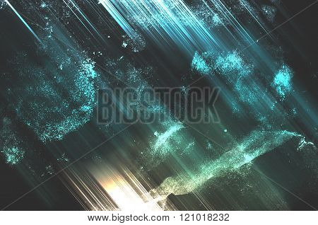 Abstract Background , Sci-fi Space Retro Style