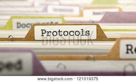 Protocols Concept on File Label.