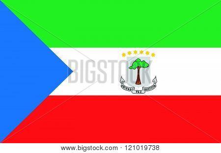 Equatorial Guinea Flag.