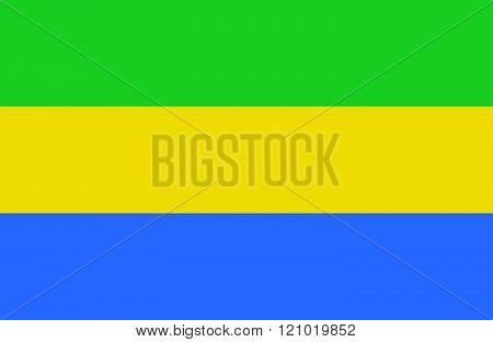 Gabon Flag.