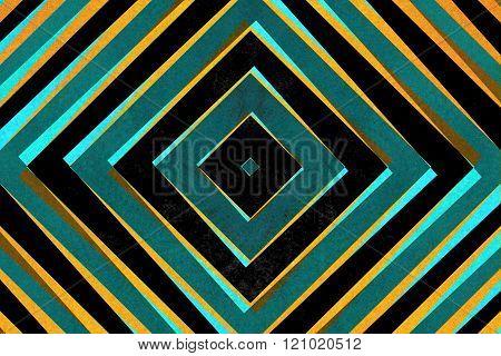 Retro Diamond Shapes Pattern