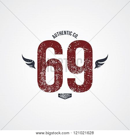 Varsity Number Garment Theme